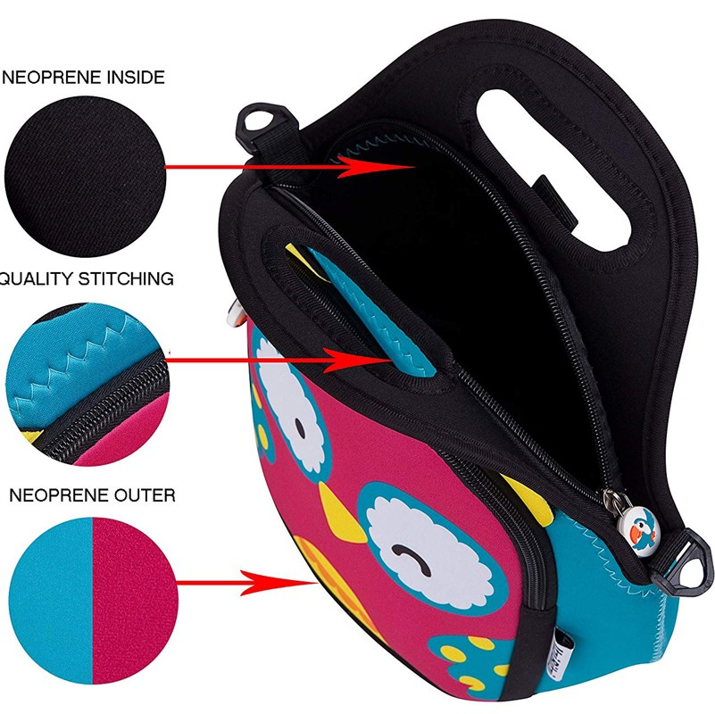 lunch neoprene bags with accessories pocket for travel-6