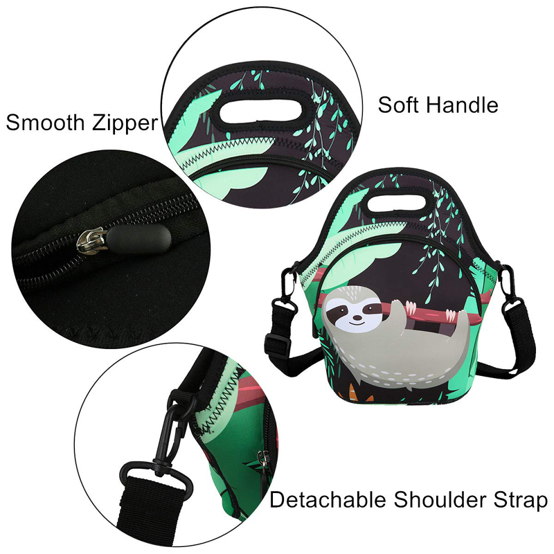 lunch neoprene bags with accessories pocket for travel-7