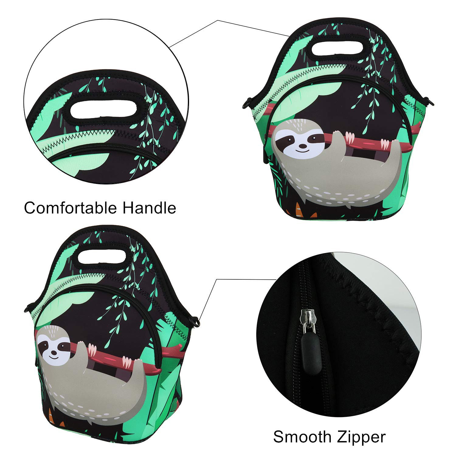 lunch neoprene bags with accessories pocket for travel-8