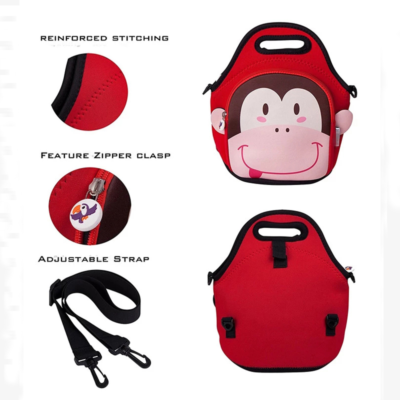 customized Neoprene bag with accessories pocket for sale-9