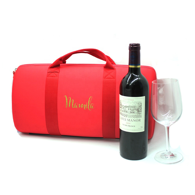 Insulated Wine Bottle Cooler Bag Beer Can EVA Hard Carrier Tote
