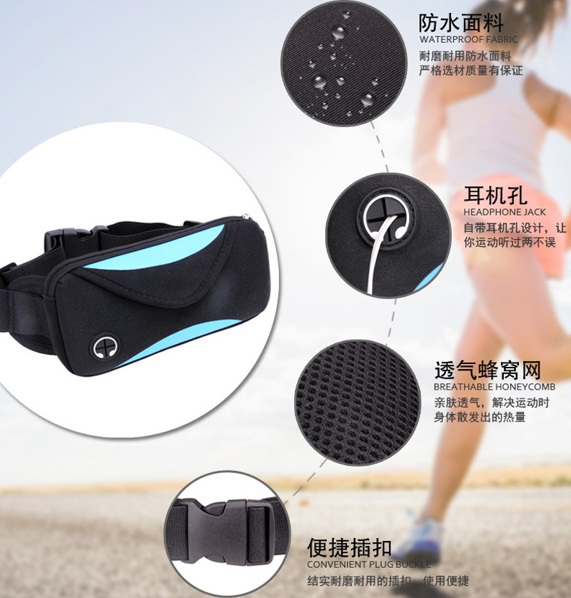 can shape custom neoprene bags with accessories pocket for travel-12