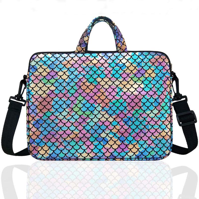 Richen 14 15  15.6 17.3 inch Laptop Shoulder Bag Messenger Bag Case Notebook Handle Sleeve Neoprene Soft Carring Tablet Travel Case with Accessories Pocket