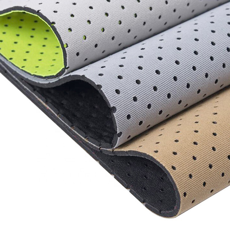 Elastic  Lycra fabric laminated on punch neoprene for lumbar support