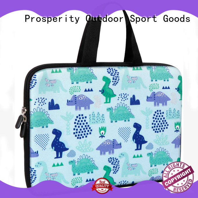 Prosperity beer neoprene bag manufacturer with accessories pocket for hiking