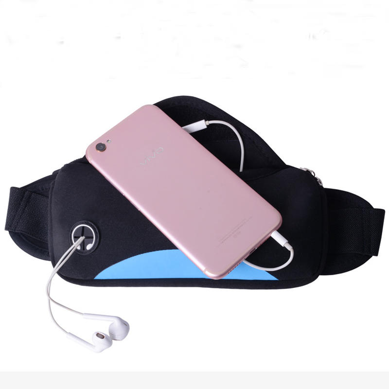 can shape custom neoprene bags with accessories pocket for travel-2